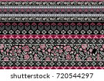 seamless pattern with ethnic... | Shutterstock .eps vector #720544297