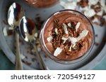 homemade prepared chocolate... | Shutterstock . vector #720549127