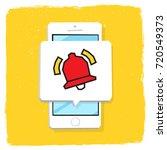 smartphone 3d isometry flat... | Shutterstock .eps vector #720549373