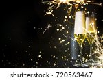 new years eve celebration... | Shutterstock . vector #720563467
