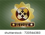 gold shiny emblem with...   Shutterstock .eps vector #720566383