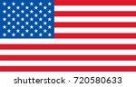 vector usa flag flagpoles ... | Shutterstock .eps vector #720580633