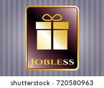 shiny emblem with gift box...   Shutterstock .eps vector #720580963