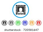 postal mark rounded icon. style ... | Shutterstock .eps vector #720581647