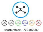user links rounded icon. style... | Shutterstock .eps vector #720582007