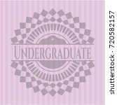 undergraduate pink emblem. retro | Shutterstock .eps vector #720582157