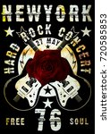 rock poster design | Shutterstock . vector #720585853