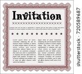 red retro vintage invitation....   Shutterstock .eps vector #720589687