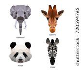 vector polygonal animals set... | Shutterstock .eps vector #720594763