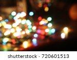abstract circular bokeh ... | Shutterstock . vector #720601513