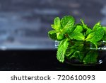 fresh mint into transparent... | Shutterstock . vector #720610093