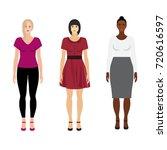 Vector Women Of Different Race...