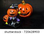 pumpkin smile for halloween... | Shutterstock . vector #720628903