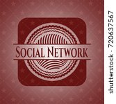 social network realistic red... | Shutterstock .eps vector #720637567