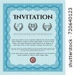 light blue vintage invitation...   Shutterstock .eps vector #720640123