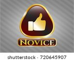 golden badge with like icon... | Shutterstock .eps vector #720645907