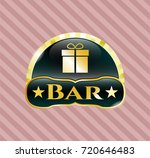 gold emblem or badge with gift ...   Shutterstock .eps vector #720646483