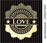 love golden badge   Shutterstock .eps vector #720647407