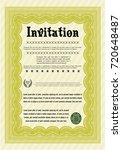 yellow retro invitation. money... | Shutterstock .eps vector #720648487