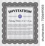 grey invitation. with...   Shutterstock .eps vector #720649303
