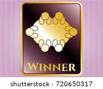 shiny emblem with business... | Shutterstock .eps vector #720650317