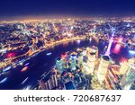 aerial view of lujiazui... | Shutterstock . vector #720687637