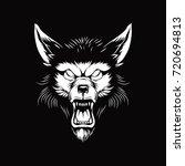 werewolf head | Shutterstock .eps vector #720694813