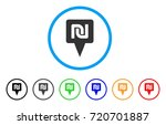 shekel map pointer rounded icon.... | Shutterstock .eps vector #720701887