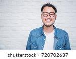 attractive beautiful positive... | Shutterstock . vector #720702637