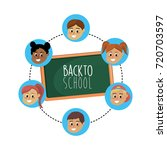 set student with hairstyle... | Shutterstock .eps vector #720703597