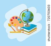 school tools to education and... | Shutterstock .eps vector #720703603