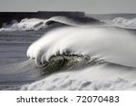 Big Waves During A Storm In Th...
