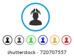 psychiatry hands rounded icon.... | Shutterstock .eps vector #720707557