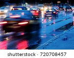 blurred cars in motion. city...   Shutterstock . vector #720708457