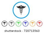medicine caduceus symbol... | Shutterstock .eps vector #720713563