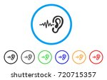 hearing signal rounded icon.... | Shutterstock .eps vector #720715357