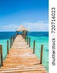 beautiful view in cancun  ...   Shutterstock . vector #720716023