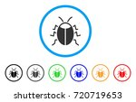 Bug Rounded Icon. Style Is A...