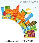 cape town skyline with color... | Shutterstock . vector #720720817