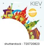 kiev skyline with color... | Shutterstock . vector #720720823