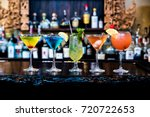 cocktails drinks on the bar | Shutterstock . vector #720722653