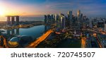 Cityscape Of Singapore City...