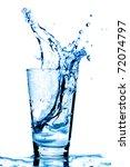 Ice Cubes Splashing Into Glass...