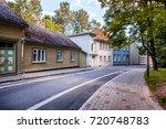 city landscape  street in tartu ...   Shutterstock . vector #720748783