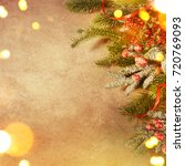 christmas holiday background | Shutterstock . vector #720769093