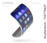 flexible smartphone. trendy... | Shutterstock .eps vector #720770647