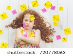 crying child with question... | Shutterstock . vector #720778063