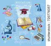 education and science. open... | Shutterstock .eps vector #720778357