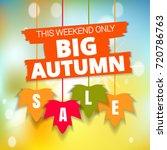 autumn thanksgiving  sale...   Shutterstock .eps vector #720786763