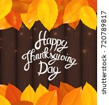 happy thanksgiving day... | Shutterstock .eps vector #720789817